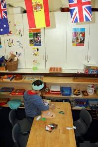 Flags inside the preschool
