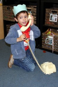 Cameron on the phone